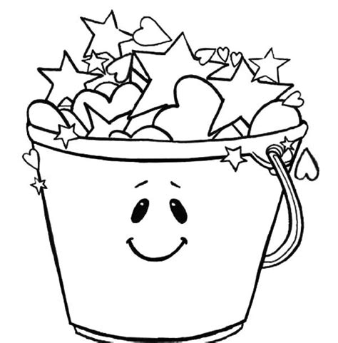 free coloring pages of and bucket