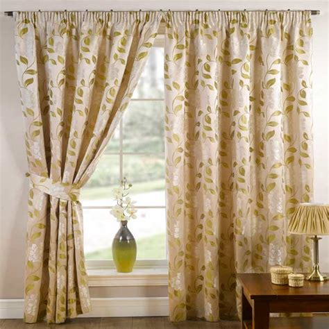 90 inch drapes davina floral woven pencil pleat lined curtains moss