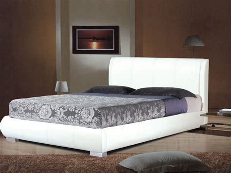white leather king bed white faux leather bed in double or king homegenies