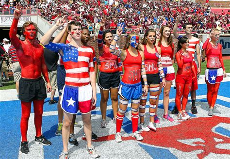 best college student sections smu student sections in college football espn