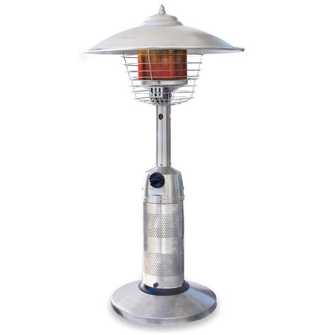 Lp Patio Heater Shop Endless Summer 11 000 Btu Stainless Steel Liquid Propane Patio Heater At Lowes