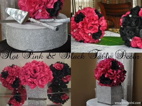 pink and black bridal shower decorations 432 best black pink white images on 15 years celebration and centerpieces
