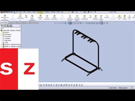 solidworks tutorial how to make guitar solidworks guitar stand tutorial youtube