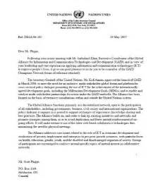 Recommendation Letter United Nations About Us