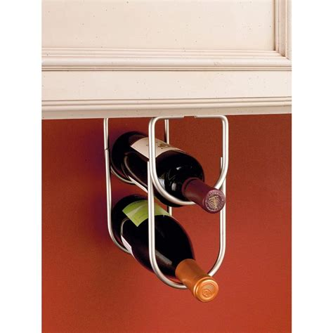 under cabinet wine bottle rack rev a shelf 0 625 in h x 4 25 in w x 9 in d satin