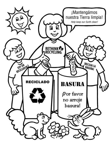dibujos de reciclaje para colorear az dibujos para colorear rayito de colores reciclaje para colorear