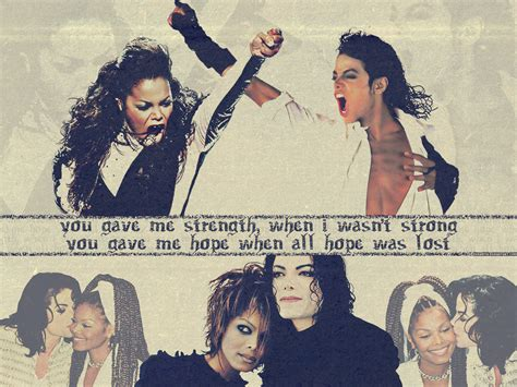 Janet Jackson On Michael by Michael Janet Michael And Janet Jackson Wallpaper