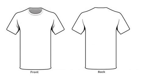 Blank Tshirt Template Front Back Side In High Resolution Empty For Tshirt Template T Shirt Front And Back Template