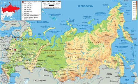 map of russia with cities in large detailed physical map of russia with all roads
