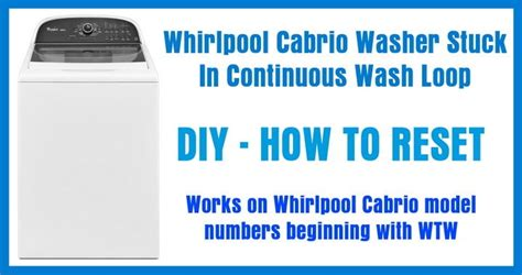 How Many Parts Are There To Trapped In The Closet by How To Reset A Whirlpool Cabrio Washing Machine