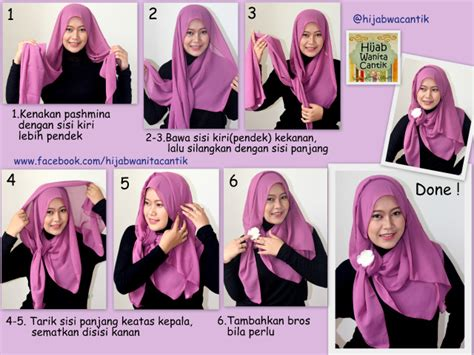 tutorial hijab pashmina wardah hijab tutorial pashmina chiffon cerutti hijab wanita cantik
