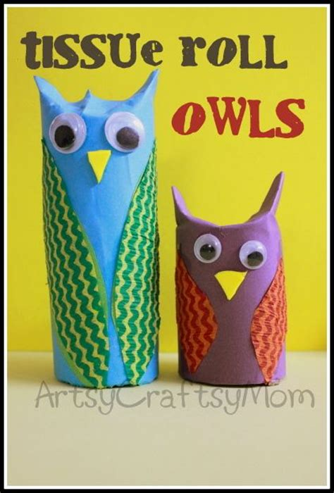 Toilet Paper Owl Craft - toilet tissue roll owl craft toilets toilet and