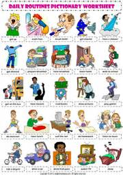 kindergarten worksheets daily routine the best and most