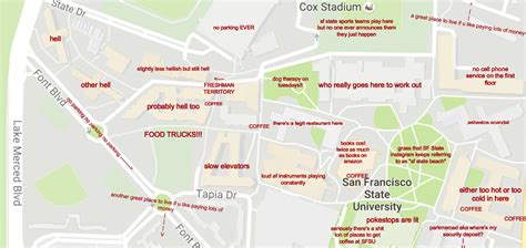 sfsu map a judgmental map of san francisco state