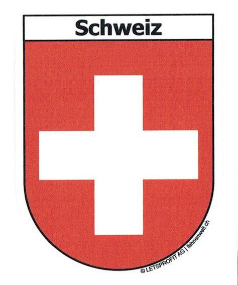 Aufkleber Sticker Schweiz by Schweiz Sticker In Wappenform Mit Schriftzug Schweiz