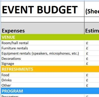 Free Spreadsheet Mac Worksheets Free Excel Spreadsheets Event Budget Template Excel