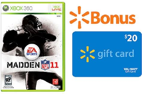 Nfl Gift Card - walmart com offering 20 gift card with madden nfl 11 preorders techcrunch
