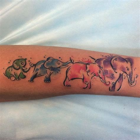 tattoo ideas representing grandchildren 25 best ideas about elephant family on