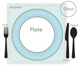 Table Place Setting by Gallery For Gt Simple Table Setting For Kids