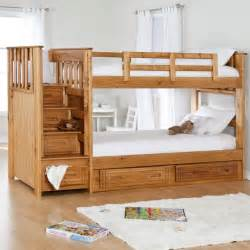 Bunk Bed With Storage Stairs Stairway Ii Bunk Bed With Stairs 2 Free Mattresses Modern Beds By Hayneedle