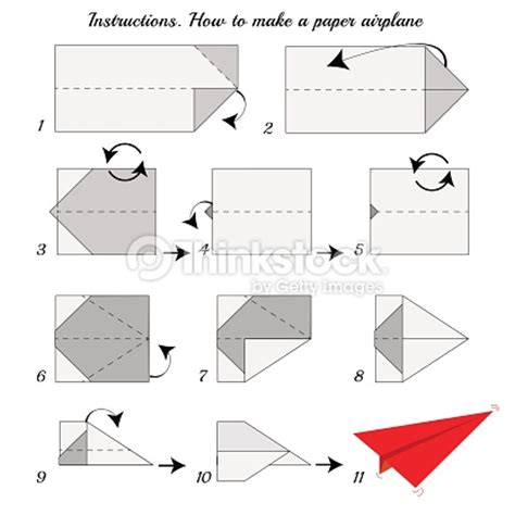 How To Make Origami Plane - how to make origami paper airplane vector