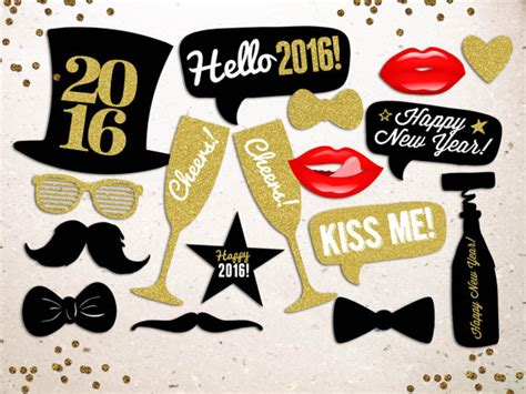 printable photo booth props new year 2018 2016 new years eve photo booth props glitter n spice