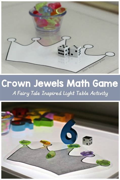 Fairy Tales Light Play: Crown Jewels Math Game for Kids   Where Imagination Grows