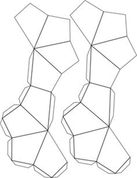printable geometric ornaments a 3d pyramid object to cut design fold and glue together