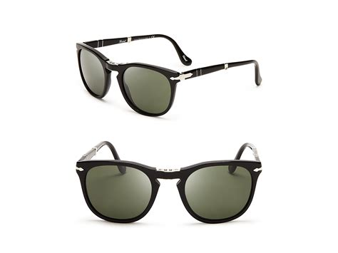 Keyhole Sunglasses by Persol Folding Keyhole Sunglasses In Black For Lyst