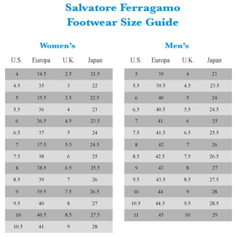shoe size chart narrow salvatore ferragamo pert 6pm com