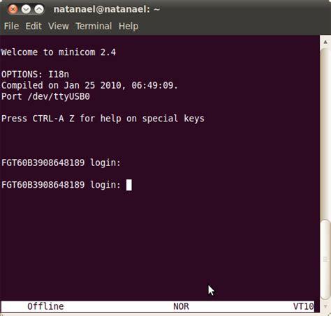 tutorial minicom linux administraci 243 n de redes tutorial basico minicom