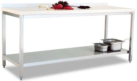 polyethlene top table with bottom shelf