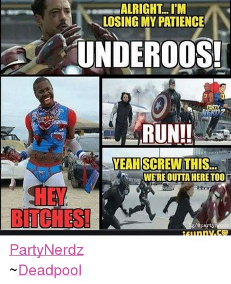 Run Bitch Run Meme - funny deadpool and yeah memes of 2016 on sizzle