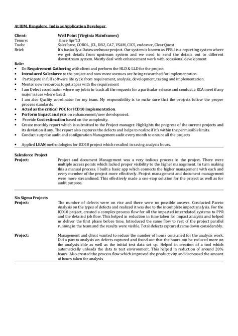 mainframe resume sles resume akanksha ibm 3yrs mainframe salesforce