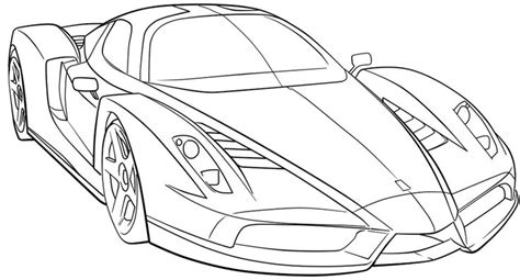 Ferrari Sport Car High Speed Coloring Page Ferrari Car Sports Car Coloring Page