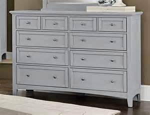 Nightstand Mirror Vaughan Bassett Bonanza Grey Triple Dresser