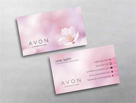avon free business card template avon business card 11