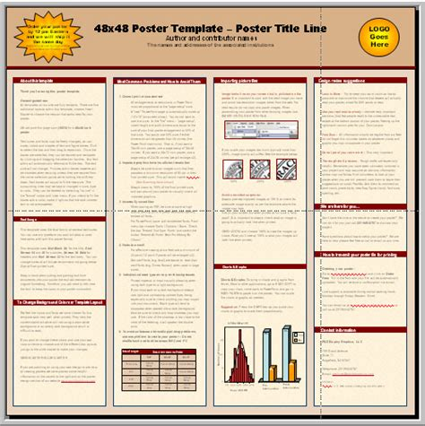 poster template 90 x 120cm indesign scientific poster template templates data