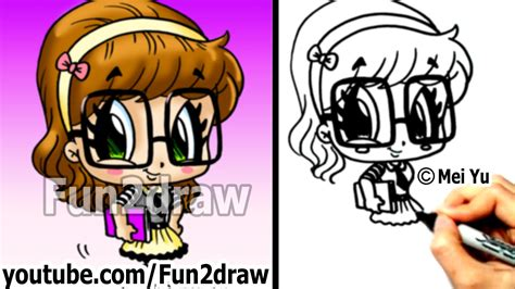 fun2draw how to draw cartoon people cute drawings how to draw chibi how to draw a nerd