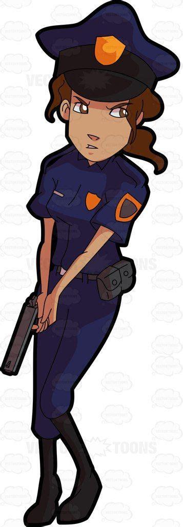 a officer on alert clipart