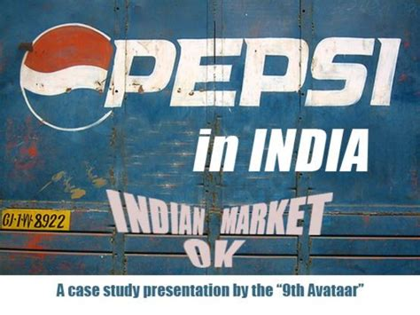 introduction of pepsi slideshare pepsico in india case study presentation iim calcutta