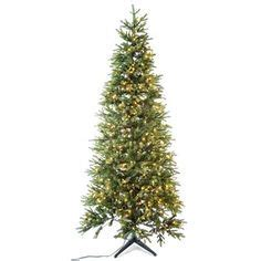 7 1 2 slim arizona fir tree with lights christmas