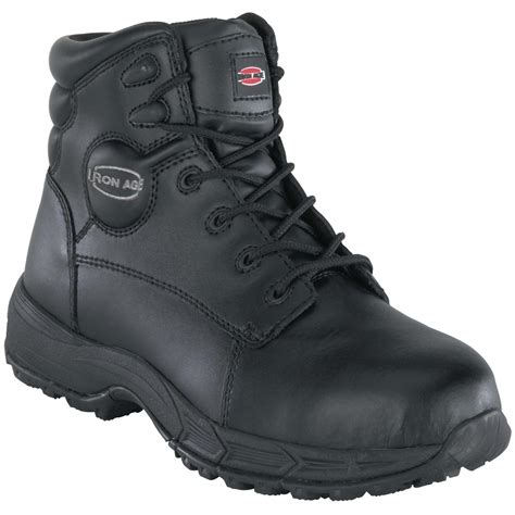 sport steel toe shoes s iron age 174 6 quot steel toe sport boots black 231794