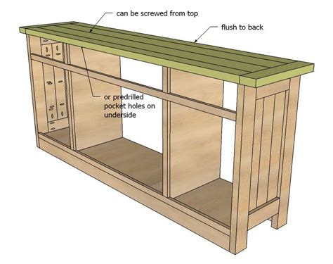 build your own buffet cabinet sliding door media console