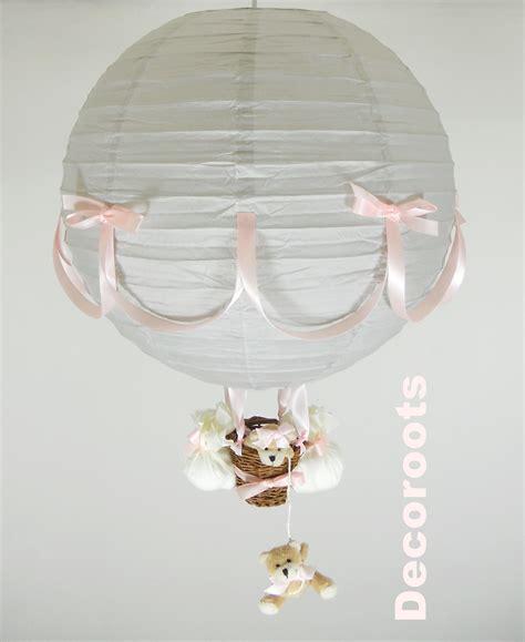Bien Decoration Chambre Bebe Fille Rose Et Gris #5: lampe-montgolfiere-gris-et-rose.jpeg