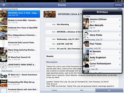 facebook chat bar top friends iphone facebook app reveals facebook ipad app update