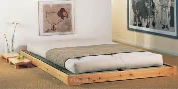 cinius lit en bois mod le quot nokido quot lit japonais lit de