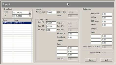 payroll database design payroll system free source code tutorials and articles