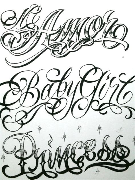 tattoo fonts billion stars boog flash pictures typography