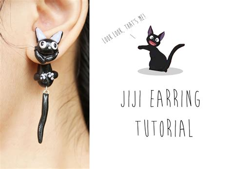 jiji cat polymer clay earrings kiki s delivery service